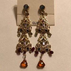 Robert Rose dangle clip earrings